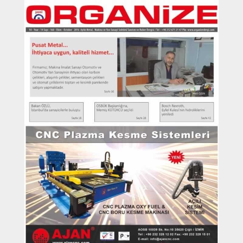 Organize Dergisine Konuk Olduk